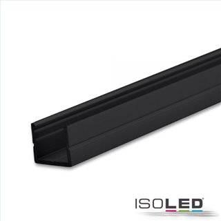 LED Aufbauprofil SURF8 Aluminium schwarz RAL 9005, 200cm