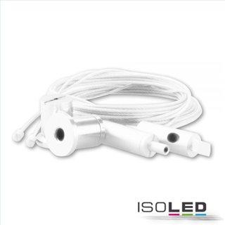 Aufhängesystem mit Drahtseil für Kabelschleuse TUNNEL, Stahl, weiß