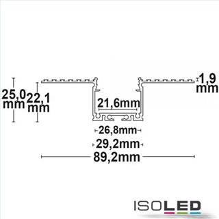 LED Trockenbauprofil 21 CEILING, 200cm