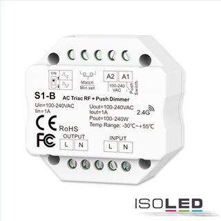 Sys-Pro Universal-Push/Funk Mesh-Dimmer 230V, 360VA, Phasenan-/Abschnitt wählbar