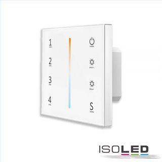 Sys-Pro weißdynamische 4 Zonen Einbau-Touch-Fernbedienung + DMX-Output, weiß, 230V