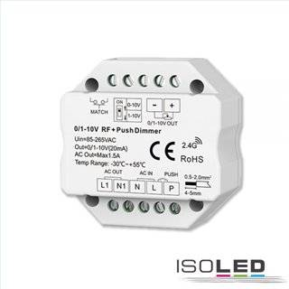 Sys-Pro Push/Funk Mesh-Dimmer mit 0/1-10V Output und Switch 85-265V 1.5A