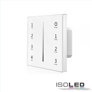 Sys-Pro 4 Zonen Einbau-Touch-Funk-Bedienung 4x0-10V Output,weiß, 85-265V