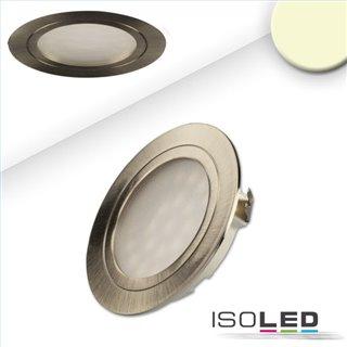 LED Möbeleinbaustrahler MiniAMP silber, 2W, 12V DC warmweiß 3000K, dimmbar
