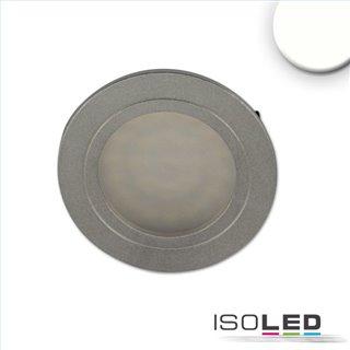 LED Möbeleinbaustrahler MiniAMP silber, 2W, 24V DC neutralweiß 4000K, dimmbar