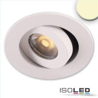LED Einbauleuchte MiniAMP weiß, 3W, 24V DC, warmweiß, dimmbar