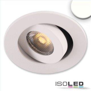 LED Einbauleuchte MiniAMP weiß, 3W, 24V DC, neutralweiß, dimmbar