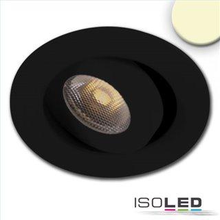 LED Einbauleuchte MiniAMP schwarz, 3W, 24V DC, warmweiß, dimmbar
