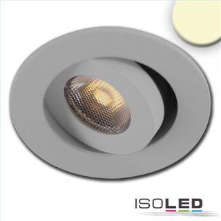 LED Einbauleuchte MiniAMP alu gebürstet, 3W, 24V DC, warmweiß, dimmbar