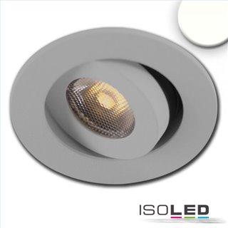 LED Einbauleuchte MiniAMP alu gebürstet, 3W, 24V DC, neutralweiß, dimmbar