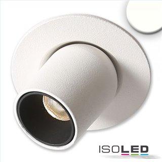 LED Einbauleuchte Pipe MiniAMP weiß, 3W, 24V DC, neutralweiß, dimmbar