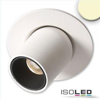 LED Einbauleuchte Pipe MiniAMP weiß, 3W, 24V DC, warmweiß, dimmbar