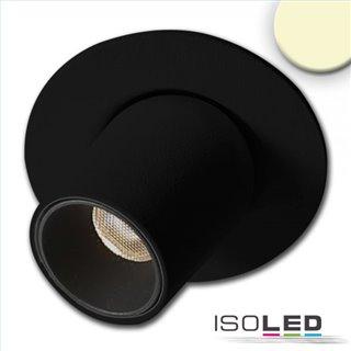 LED Einbauleuchte Pipe MiniAMP schwarz, 3W, 24V DC, warmweiß, dimmbar