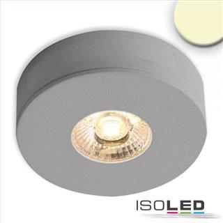 LED Ein- und Unterbauleuchte MiniAMP alu gebürstet, 3W, 24V DC, warmweiß, dimmbar