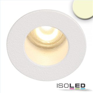 LED Einbauleuchte MiniAMP weiß, 1W, 24V DC, warmweiß, rückversetzt, dimmbar
