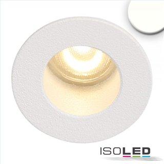 LED Einbauleuchte MiniAMP weiß, 1W, 24V DC, neutralweiß, rückversetzt, dimmbar