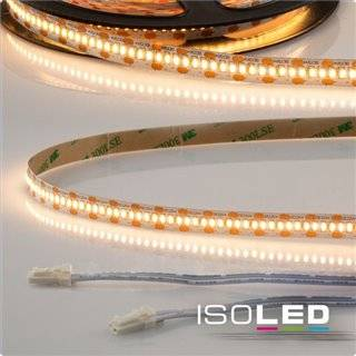 LED CRI925 MiniAMP Flexband, 12V, 6W, 2500K, 250cm, beidseitig 30cm Kabel mit male-Stecker