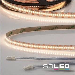 LED CRI930 MiniAMP Flexband, 12V, 6W, 3000K, 500cm, beidseitig 30cm Kabel mit male-Stecker