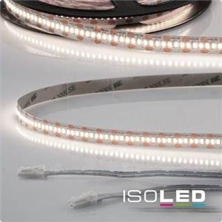 LED CRI940 MiniAMP Flexband, 12V, 6W, 4000K, 500cm, beidseitig 30cm Kabel mit male-Stecker
