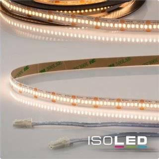 LED CRI930 MiniAMP Flexband, 24V, 6W, 3000K, 250cm, beidseitig 30cm Kabel mit male-Stecker