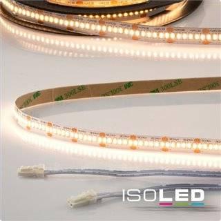 LED CRI930 MiniAMP Flexband, 24V, 12W, 3000K, 500cm, beidseitig 30cm Kabel mit male-Stecker