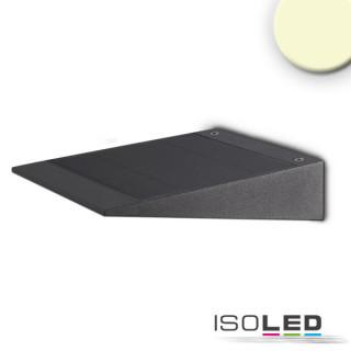 LED SOLAR Wandleuchte mit HF-Bewegungs- u. Helligkeitssensor, 2W, IP54, warmweiß