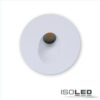 Cover Aluminium rund 1 weiß für Wandeinbauleuchte Sys-Wall68