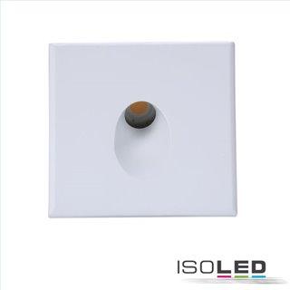 Cover Aluminium eckig 1 weiß für Wandeinbauleuchte Sys-Wall68