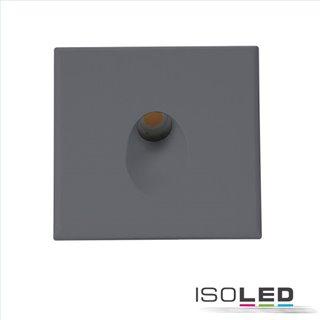 Cover Aluminium eckig 1 schwarz für Wandeinbauleuchte Sys-Wall68