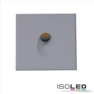 Cover Aluminium eckig 1 silbergrau für Wandeinbauleuchte Sys-Wall68