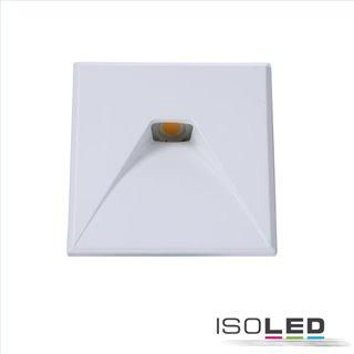 Cover Aluminium eckig 2 weiß für Wandeinbauleuchte Sys-Wall68