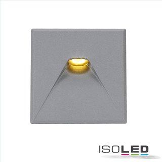 Cover Aluminium eckig 2 silbergrau für Wandeinbauleuchte Sys-Wall68