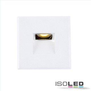 Cover Aluminium eckig 3 weiß für Wandeinbauleuchte Sys-Wall68