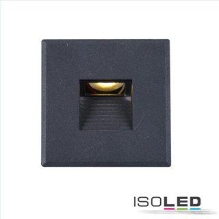 Cover Aluminium eckig 3 schwarz für Wandeinbauleuchte Sys-Wall68