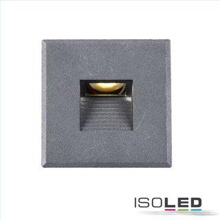Cover Aluminium eckig 3 silbergrau für Wandeinbauleuchte Sys-Wall68