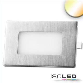 LED Wandeinbauleuchte eckig, 2.5W, IP65, ColorSwitch 3000K|4000K|6000K, inkl. Einputzdose