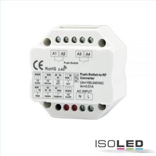Sys-Pro 2-Push Input, Funk-Output für Switch/Dimm/CCT/ RGB/RGB+W Empfänger, 100-240V