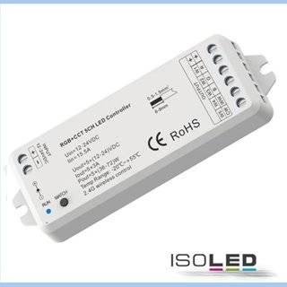 Sys-Pro RGB+CCT Funk Mesh PWM-Controller, 1-5 Kanal, 12-24V DC 5x3A