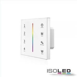 Sys-Pro RGB+W 4 Zonen Einbau-Touch-Fernbedienung + DMX Output, weiß, 230V