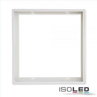 Aufbaurahmen weiß RAL 9016 für LED Panel 600x600, Schnellmontage