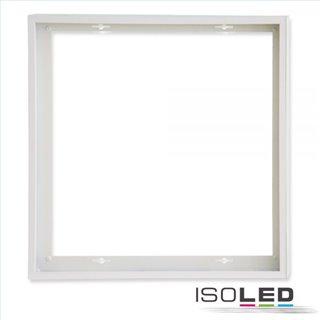 Aufbaurahmen weiß RAL 9016 für LED Panel 625x625, Schnellmontage