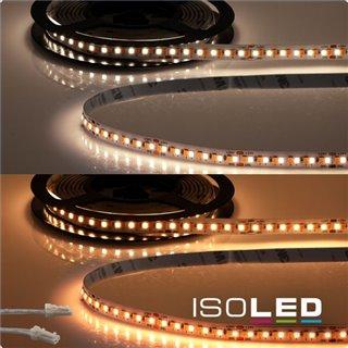 LED CRI919/940 MiniAMP Flexband, 24V, 15W, weißdynamisch, 500cm, beidseitiges Kabel mit male-Stecker
