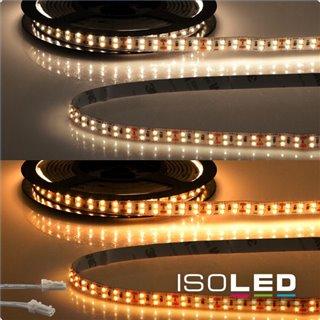 LED CRI919/940 MiniAMP Flexband, 24V, 20W, weißdynamisch, 500cm, beidseitiges Kabel mit male-Stecker