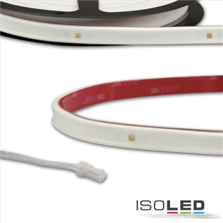 LED UV-C MiniAMP Flexband 270nm, 12V DC, 3W, IP54, 58cm, weiß, einseitig Kabel mit male-Stecker