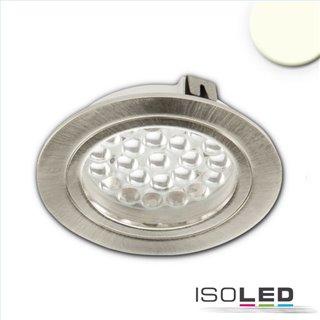 LED Möbeleinbaustrahler MiniAMP silber, 4W, 60°, 12V DC warmweiß 3000K, dimmbar