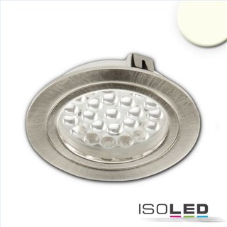 LED Möbeleinbaustrahler MiniAMP silber, 4W, 60°, 24V DC warmweiß 3000K, dimmbar