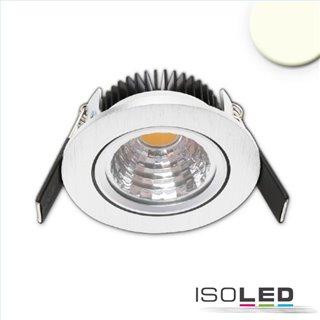 LED Einbauleuchte Sys68 MiniAMP alu gebürstet 5W, 24V DC, warmweiß 2700k, dimmbar