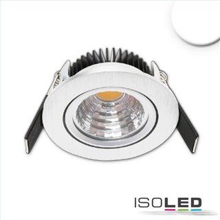 LED Einbauleuchte Sys68 MiniAMP alu gebürstet 5W, 24V DC, neutralweiß 4000k, dimmbar