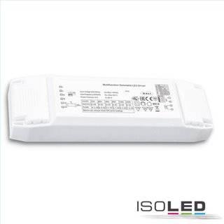 LED Konstantstrom Trafo 700/800/900/950/1050/1200mA, 40W, Push/1-10V/DALI dimmbar, SELV