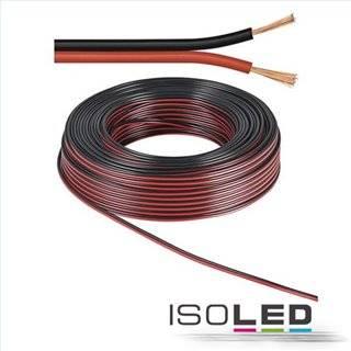 Kabel 50m Rolle 2-polig 0.75mm² H03VH-H YZWL, schwarz/rot, AWG18